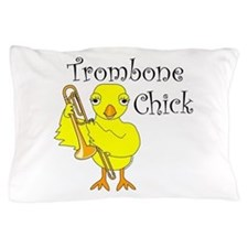 Trombone Chick Text Pillow Case