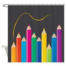 Cool Colour pencils Shower Curtain
