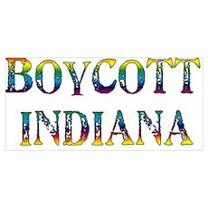 Boycott Indiana Poster