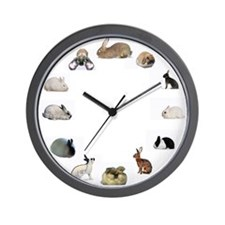 Cute Angoras Wall Clock