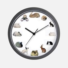 Cute Hares Wall Clock