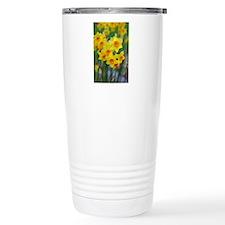 Yellow and orange sprin Travel Coffee Mug