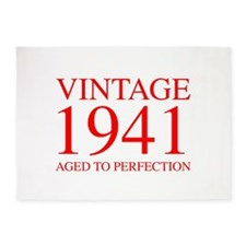 VINTAGE 1941 aged to perfection-red 300 5'x7'Area