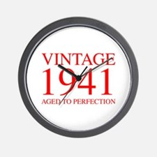 VINTAGE 1941 aged to perfection-red 300 Wall Clock