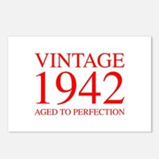 VINTAGE 1942 aged to perfection-red 300 Postcards