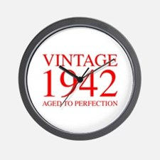 VINTAGE 1942 aged to perfection-red 300 Wall Clock