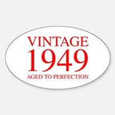 VINTAGE 1949 aged to perfection-red 300 Decal