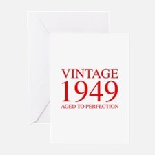 VINTAGE 1949 aged to perfection-red 300 Greeting C