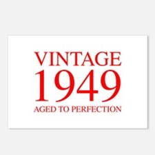 VINTAGE 1949 aged to perfection-red 300 Postcards