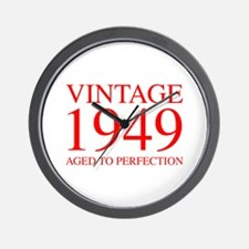 VINTAGE 1949 aged to perfection-red 300 Wall Clock
