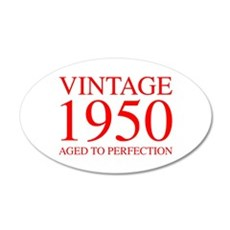 VINTAGE 1950 aged to perfection-red 300 Wall Decal