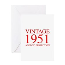 VINTAGE 1951 aged to perfection-red 300 Greeting C