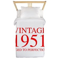VINTAGE 1951 aged to perfection-red 300 Twin Duvet
