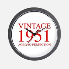 VINTAGE 1951 aged to perfection-red 300 Wall Clock