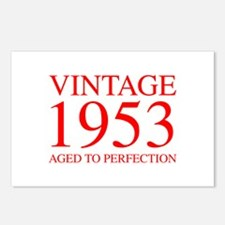 VINTAGE 1953 aged to perfection-red 300 Postcards