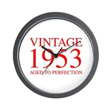 VINTAGE 1953 aged to perfection-red 300 Wall Clock