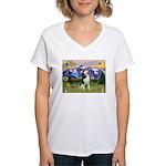 Mt Country & Husky Women's V-Neck T-Shirt
