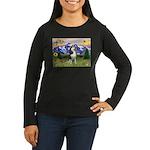 Mt Country & Husky Women's Long Sleeve Dark T-Shir