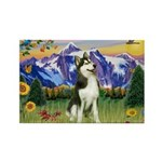 Mt Country & Husky Rectangle Magnet
