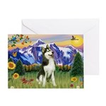 Mt Country & Husky Greeting Card