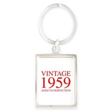 VINTAGE 1959 aged to perfection-red 300 Keychains