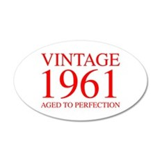 VINTAGE 1961 aged to perfection-red 300 Wall Decal