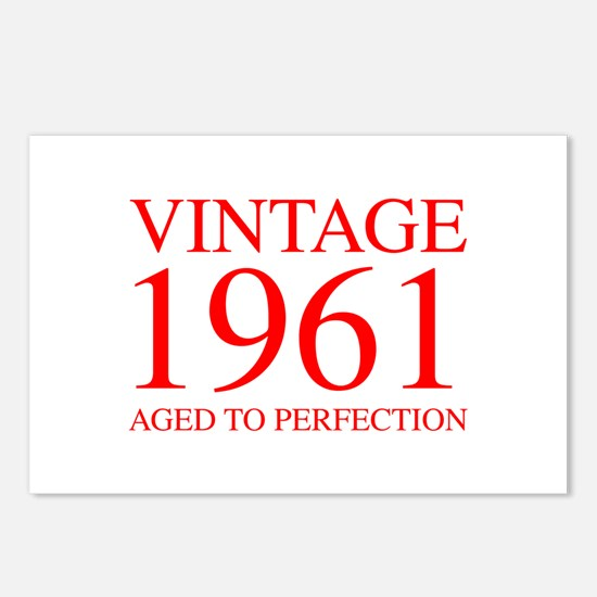 VINTAGE 1961 aged to perfection-red 300 Postcards