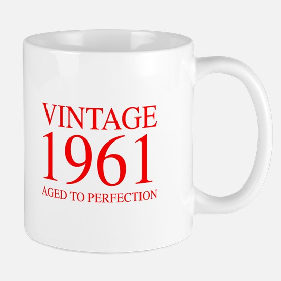 VINTAGE 1961 aged to perfection-red 300 Mugs