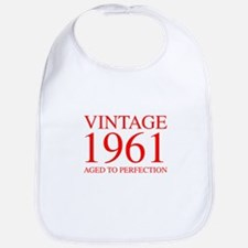 VINTAGE 1961 aged to perfection-red 300 Bib