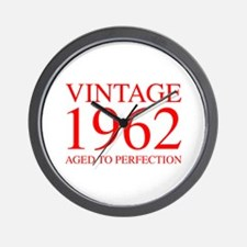 VINTAGE 1962 aged to perfection-red 300 Wall Clock