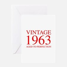 VINTAGE 1963 aged to perfection-red 300 Greeting C