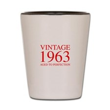 VINTAGE 1963 aged to perfection-red 300 Shot Glass