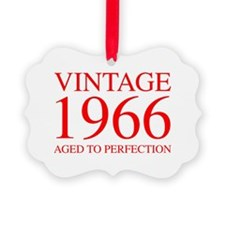 VINTAGE 1966 aged to perfection-red 300 Ornament