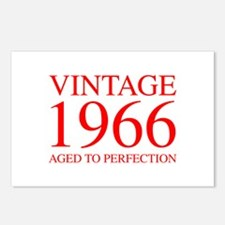 VINTAGE 1966 aged to perfection-red 300 Postcards