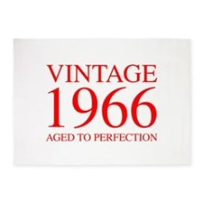 VINTAGE 1966 aged to perfection-red 300 5'x7'Area