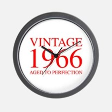 VINTAGE 1966 aged to perfection-red 300 Wall Clock