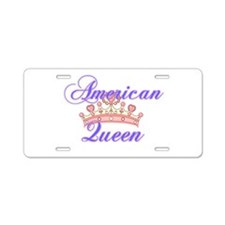 American Queen Aluminum License Plate