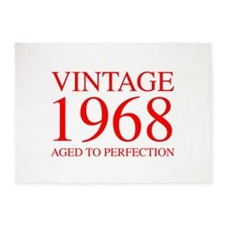 VINTAGE 1968 aged to perfection-red 300 5'x7'Area