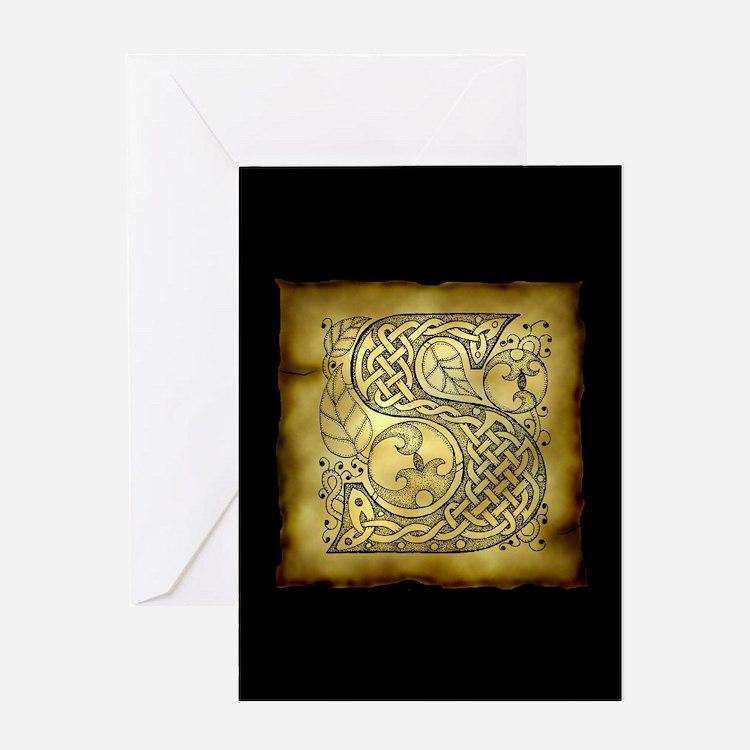 Celtic Letter S Greeting Card