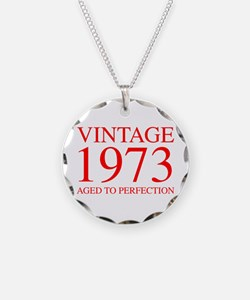 VINTAGE 1973 aged to perfection-red 300 Necklace