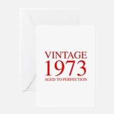 VINTAGE 1973 aged to perfection-red 300 Greeting C