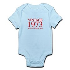 VINTAGE 1973 aged to perfection-red 300 Body Suit