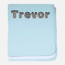 Trevor Wolf baby blanket