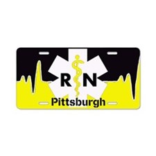 Pittsburgh Nurse Aluminum License Plate