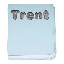 Trent Wolf baby blanket