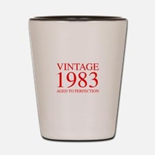VINTAGE 1983 aged to perfection-red 300 Shot Glass