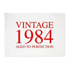VINTAGE 1984 aged to perfection-red 300 5'x7'Area Rug