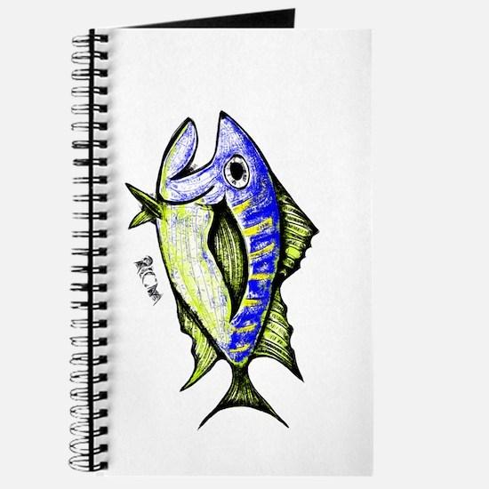 Tuna Abstract 3 rot Journal