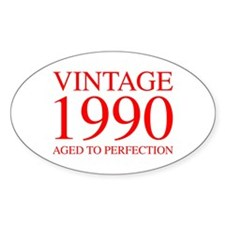VINTAGE 1990 aged to perfection-red 300 Decal