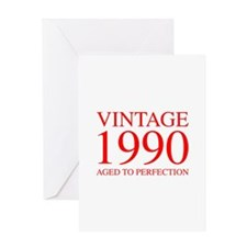 VINTAGE 1990 aged to perfection-red 300 Greeting C